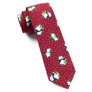 Outland Floral Red Tie