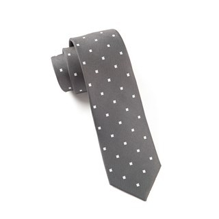 Checks & Balance Charcoal Tie