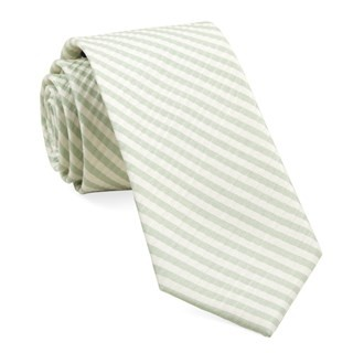 Silk Seersucker Stripe Spring Mint Tie