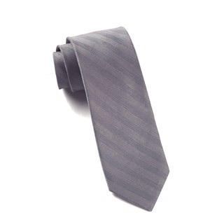 Invisible Stripe Silver Tie