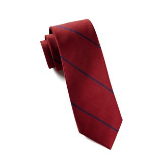 Delta Stripe Red Tie