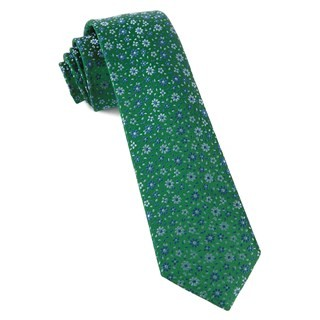 Milligan Flowers Emerald Green Tie
