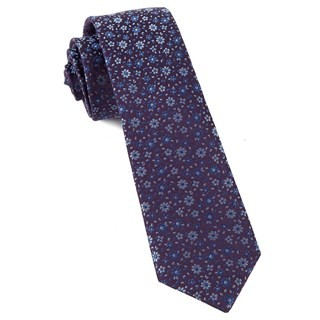 Milligan Flowers Light Purple Tie