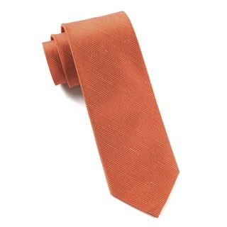 Fountain Solid Orange Tie