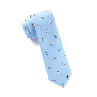 Subtle Paisley Light Blue Tie