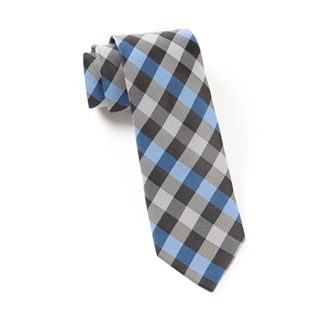 Gingham Fusion Blue Tie