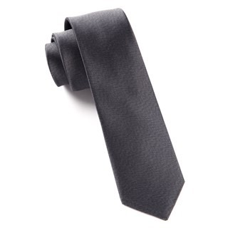 Melange Twist Solid Charcoal Tie
