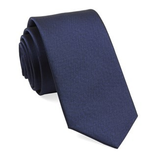 Melange Twist Solid Navy Tie