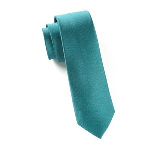 Melange Twist Solid Green Teal Tie