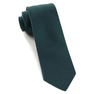 Astute Solid Green Teal Tie