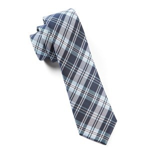 Narrative Plaid Navy Tie