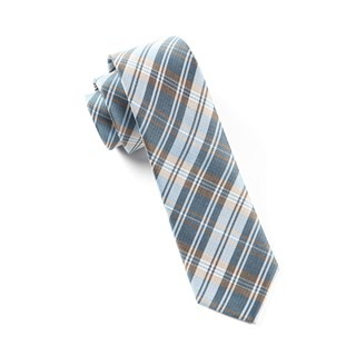 Narrative Plaid Light Blue Tie