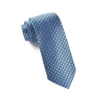 Aerial Geo Light Blue Tie