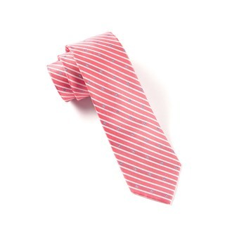 Arbor Stripe Red Tie