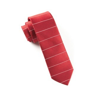 Institute Stripe Red Tie