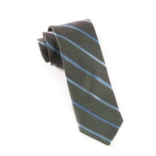 Editor Stripe Dark Green Tie
