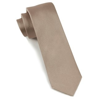 Grosgrain Solid Champagne Tie