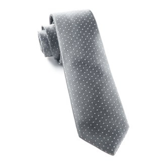Mini Dots Grey Tie