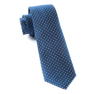 Mini Dots Classic Navy Tie
