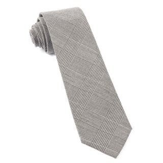 Cotton Glen Plaid Black Tie