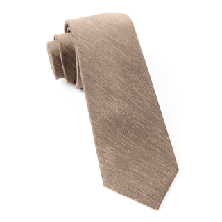 Sand Wash Solid Brown Tie