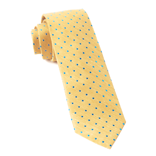 Dotted Dots Yellow Tie