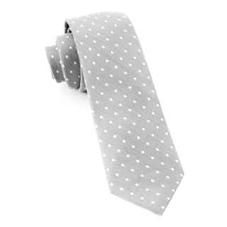 Dotted Dots Silver Tie