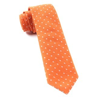 Dotted Dots Orange Tie