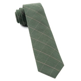Goalpost Pane Army Green Tie