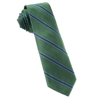 Kennedy Stripe Hunter Green Tie