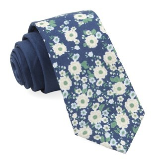 Meyer Flowers Navy Tie