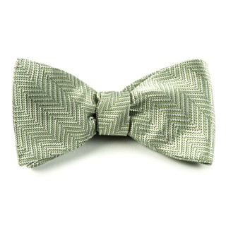 Native Herringbone Moss Bow Tie