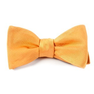Grosgrain Solid Cantaloupe Bow Tie