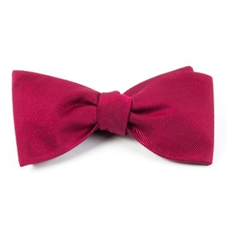 Grosgrain Solid Cranberry Bow Tie