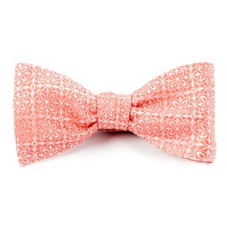Opulent Coral Bow Tie