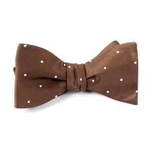 Satin Dot Chocolate Bow Tie