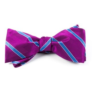 Pipe Dream Stripe Azalea Bow Tie