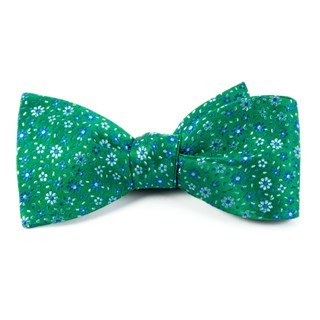 Milligan Flowers Emerald Green Bow Tie
