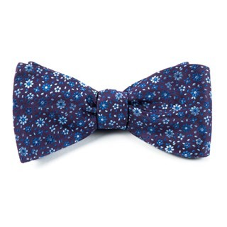 Milligan Flowers Light Purple Bow Tie