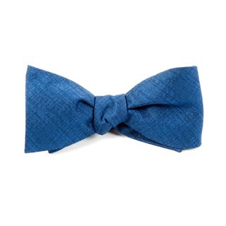Debonair Solid Royal Blue Bow Tie