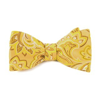 Organic Paisley Gold Bow Tie