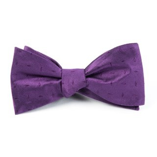 Industry Solid Plum Bow Tie