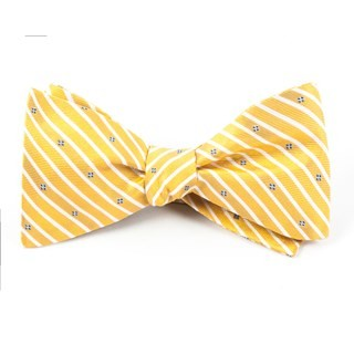 Arbor Stripe Yellow Bow Tie