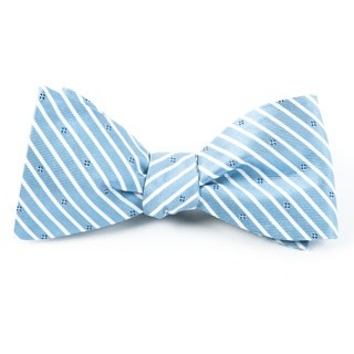 Arbor Stripe Blue Bow Tie