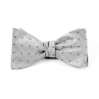 Industry Solid (Fs) Silver Bow Tie