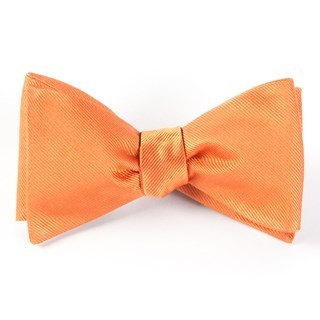 Grosgrain Solid Orange Bow Tie