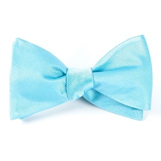 Grosgrain Solid Aquamarine Bow Tie