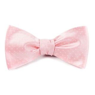 Mini Dots Light Pink Bow Tie