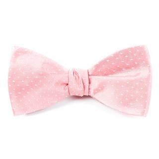 Mini Dots Salmon Pink Bow Tie