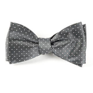 Mini Dots Charcoal Bow Tie
